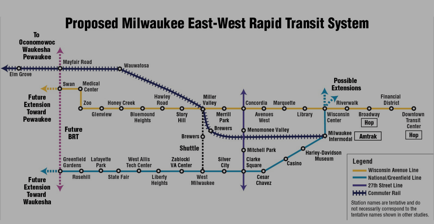 Proposed Milwaukee East-West Rapid Transit System